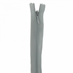 fermeture invisible 22 cm gris souris