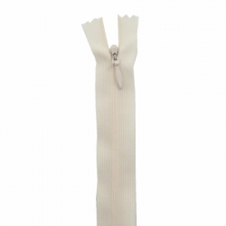 fermeture invisible 22 cm blanc cassé