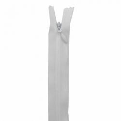 fermeture invisible 40 cm blanc