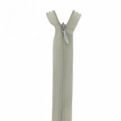 fermeture invisible 40 cm kaki clair
