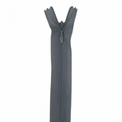 fermeture invisible 40 cm gris