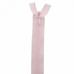 fermeture invisible 40 cm rose pale