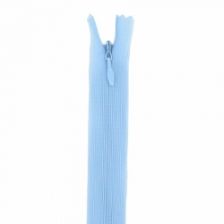 fermeture invisible 40 cm bleu clair