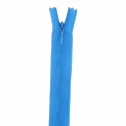 fermeture invisible 40 cm bleu turquoise