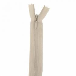 fermeture invisible 40 cm beige clair