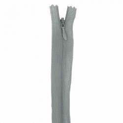 fermeture invisible 40 cm gris souris