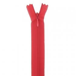 fermeture invisible 40 cm rouge