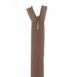 fermeture invisible 60 cm marron clair