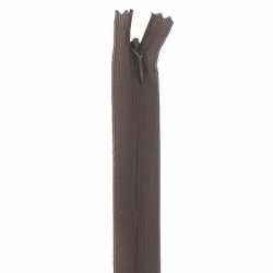 fermeture invisible 60 cm marron