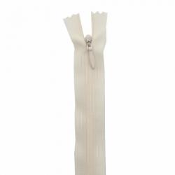 fermeture invisible 60 cm blanc cassé