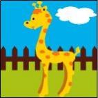 Canevas Girafe