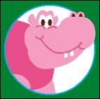 Canevas Hippo Rose