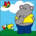 Canevas Hippo