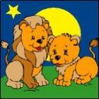 Canevas Couple lion