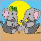 Canevas Couple Elephant