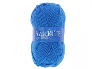 Laine azurite Bleu