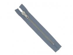 Fermeture jean laiton gris moyen