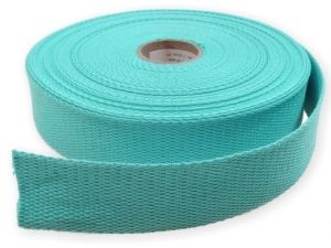 Sangle Coton 30mm turquoise