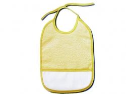 Bavoir à broder 25 x 33 cm jaune