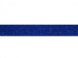 Ruban velours métallisé 15 mm bleu roy