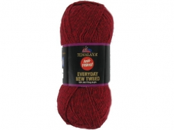 Fil à tricoter Everyday New Tweed rouge 102