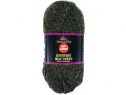 Fil à tricoter Everyday New Tweed kaki chiné 122