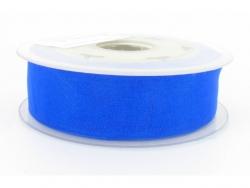 Ruban organdi 7mm bleu flash