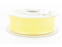 Ruban organdi 38mm jaune clair