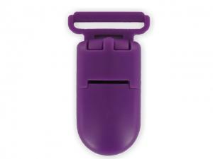 Clips plastique violet