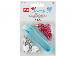Boutons pression Prym Love jersey 8mm, rouge