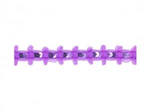 Galon Mousseline avec un nœud+paillettes 25mm violet
