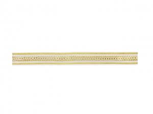 galon paillette sur bande transparente doré