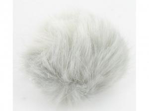 Pompon fourrure décoratif Gris clair