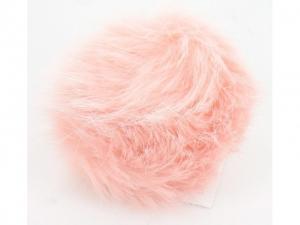 Pompon fourrure décoratif Rose clair
