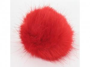 Pompon fourrure décoratif Rouge