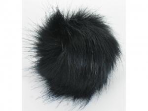 Pompon fourrure décoratif Noir