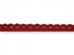 Dentelle coton 10 mm Rouge