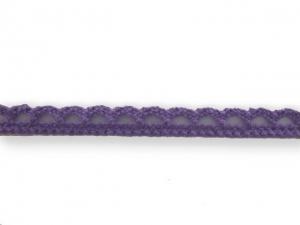 Dentelle coton 10 mm Mauve