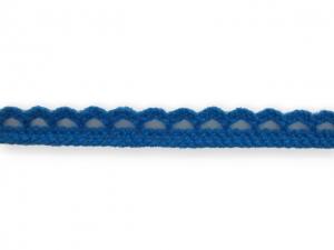 Dentelle coton 10 mm Bleu