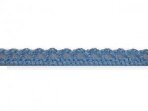 Dentelle coton 10 mm Bleu ciel