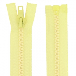 Fermeture séparable jaune pâle