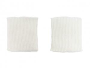 x3 Bord côte poignets blanc