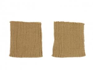 x3 Bord côte poignets chameau