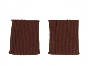 x3 Bord côte poignets cuir