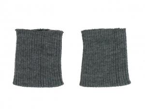 x3 Bord côte poignets gris foncé