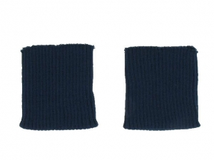 x3 Bord côte poignets marine