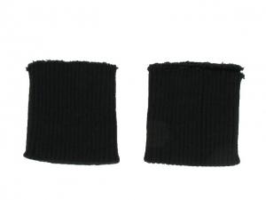 x3 Bord côte poignets noir
