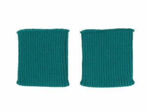 x3 Bord côte poignets vert émeraude