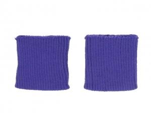 x3 Bord côte poignets violet