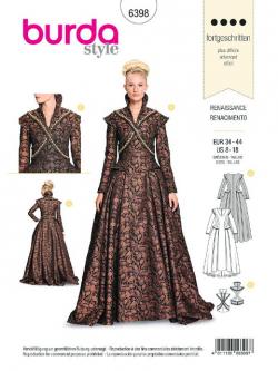 Patron Burda 6398 Renaissance - Robe